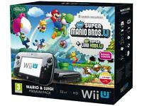 Mario and Luigi premium pack Wii U console + 3 Extra Wii U games! ALL BARELY USED BY MY SON!