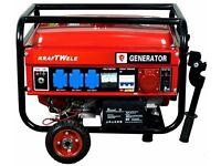 Generator KRAFTWELE KW6500 3 Phase Petrol 6,5 KW