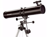 Celestron Powerseeker 114EQ Telescope - includes 2 eyepieces, full height tripod and 3x Barlow lens