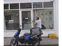 Window Cleaner - Moped Rider