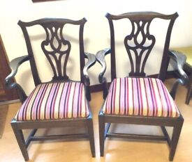 Pair of Wood Dining Chairs Wood Vintage Recovered