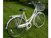 """Raleigh Caprice traditional 3 speed lady's bike with basket, 21"""" large frame, 26"""" wheels, discount"""
