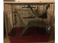 Ferplast rat/ ferret cage with accessories