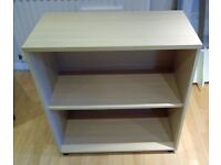 Ikea office cabinet with one shelf. Light wood effect.