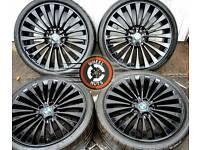 "20"" Genuine BMW 5 series alloys staggered, matching Bridgestone tyres."