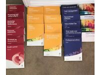 AAT level 2,3 and 4 diploma in accounting books