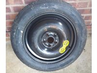 5x100 Space Saver Wheel with 125 90 16 Continental Tyre