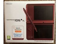 Nintendo DS I Xl games console in box with 6 games like new