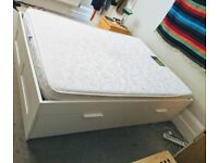 IKEA double bed with 4 storage draws, like new