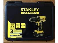 STANLEY DRILL 18V BRAND NEW 2 BATTERIES LED LIGHT SEALED UNOPENED £55