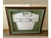 Pat Cash signed framed sports shirt