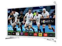 "32"" White SAMSUNG Smart full HD internet LED TV UE32J4510 warranty and delivered boxed"