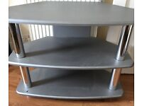 tv stand silver