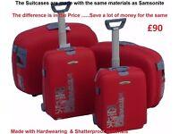 Chiba-Nari Japan QUALITY 4pcs Hard Travel suitcase set - Spinning wheels 4 Keys & Combination Locks