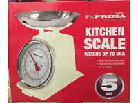 5KG Traditional Weighing Kitchen Scale-CREAM
