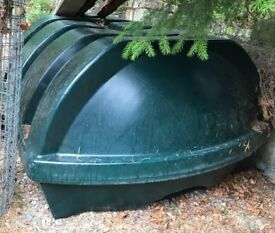 1200 Litre Green Low Profile Single Skin Oil Tank - Never Used