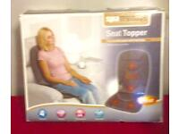 Full sized back massager with soothing heat.