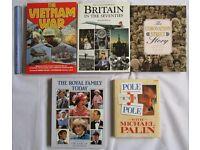 5 BOOKS Coronation Street RETRO history Royal family Vietnam war Pole to pole mixed history