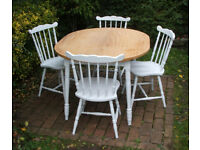Vintage - Dining Table and Four Chairs - Shabby Chic