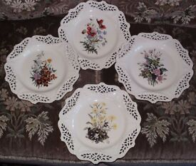 WALL /CABINET PLATES Set of four Beautiful Royal Creamware Limited Edition Wall /Cabinet Plates