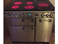 Rangemaster Professional 90 Oven cermamic hob cooker / oven + stainless Hood