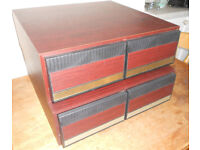 Two Retro VHS Video Cassette Storage Drawer Units - £10 the pair