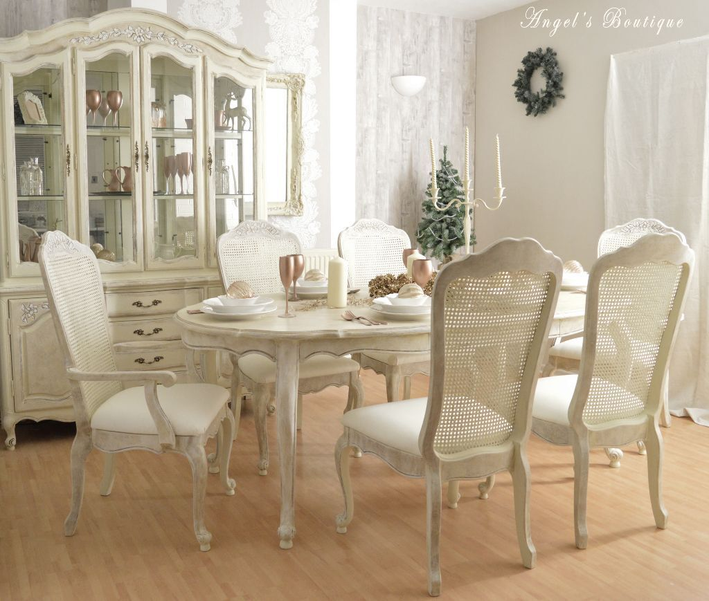 Superior Sold *** CHRISTMAS SALE *** Unique French Shabby Chic Dining Table And Part 14