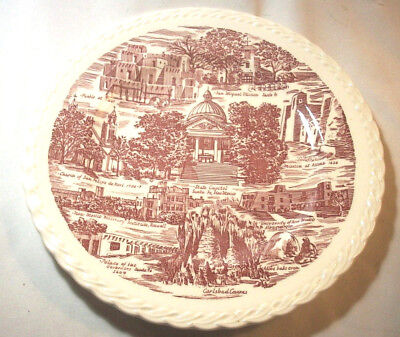 Vernon Kilns Souvenir Collector State Plate: NEW MEXICO: Enchantment:Red: EXC:NR