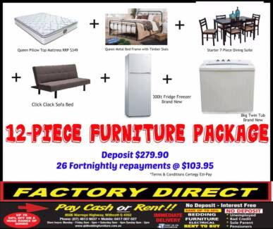 NEW 12-Piece Furniture Package ONLY $52PW NO INTEREST EVER!!! Warwick Southern Downs Preview