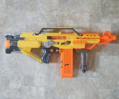 Nerf Stampede ECS N-Strike Foam Dart Gun with Clip and Bi-Pod Working