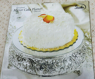 50s cake plate mirrored