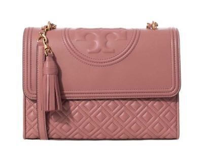 fc498d0093c8 TORY BURCH Fleming Convertible Shoulder Bag 43833  Pink Magnolia  New Model