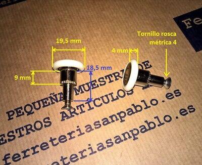 6 RUEDAS DE MAMPARA 19,5 mm (tenemos rodamientos para ventanas) rueda rodamiento