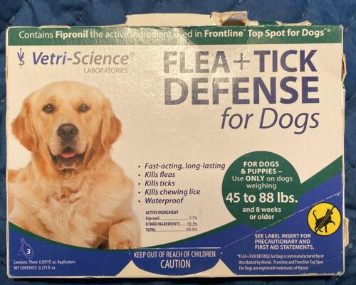 Generic Frontline Vetri Science Flea Tick Defense Large Dogs 44-89 Pounds 3pk - $13.99