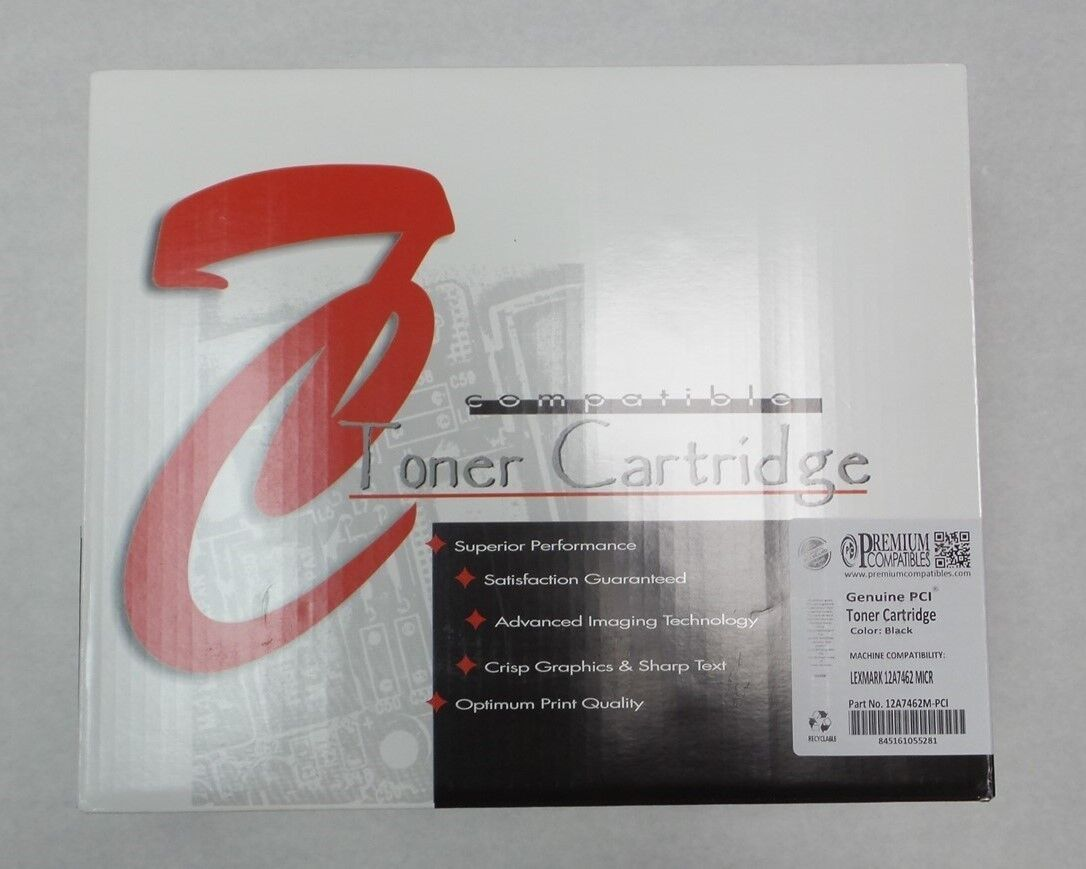 PCI 12A7462 Black Toner Cartridge For Lexmark Scan Capable