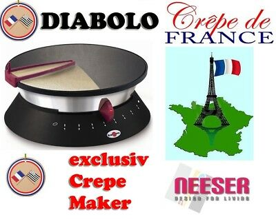 KRAMPOUZ crepe maker DIABOLO ø 33cm ORIGINAL FRANCE BEST QUALITY in black (Best Crepes In France)