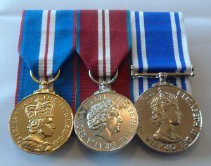 Golden Jubilee Medal, Diamond Jubilee, Police LSGC, Mounted, Full Size, Medals