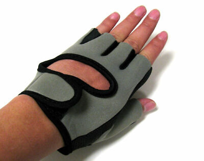 A Pair Protect Hand Palm Glove elastic Black Athlete Sport Bicycle Cycling gray Clothing & Accessories