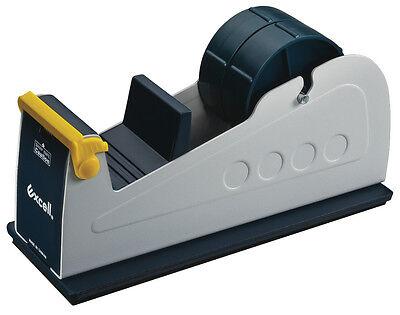 T.r.u. Et-227 Bluegrey Premium Steel Desk Top Tape Dispenser 2 In. Wide Twin