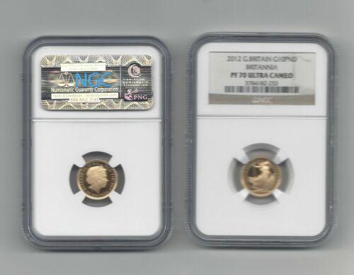 2012 Great Britain 10 Pound Gold Britannia NGC PR70 UC