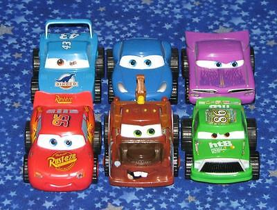 6 Pixar Cars Penny Racer Toys Large Size Complete Set Disney Store Exclusive USA