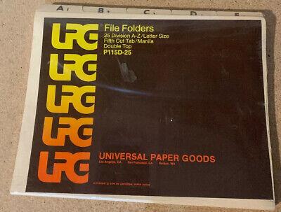 Vintage 1978 File Folders By Universal Paper Goods