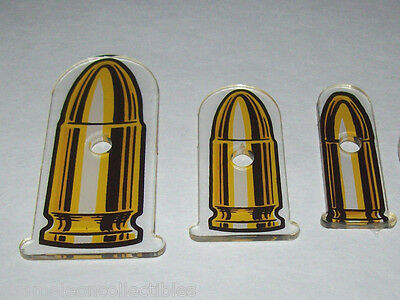 Williams DIRTY HARRY Original Pinball Machine Plastic Keychain Lot (3) Bullets