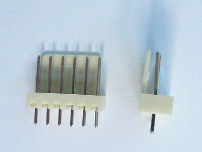 25x Friction Lock Header 6-pin 0.1 Spacing Male Straight Pcb Mount