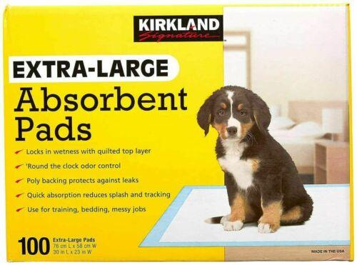 Kirkland Signature Extra-Large Absorbent Pads, 100 Large Pads, 30x23