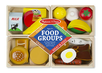 Melissa & Doug Food Groups Wooden Play Food  #271 Brand New