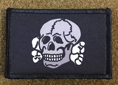 Totenkopf Skull Classic Morale Patch Tactical ARMY Hook Military USA Badge Flag