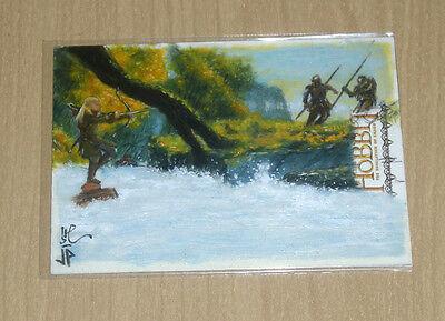 2015 Cryptozoic Hobbit Smaug sketch fine art card Jason Potratz Jack Hai scenic
