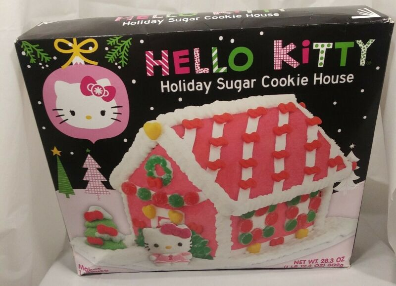 Hello Kitty Holiday Sugar Cookie House Icing Pink White Candy Cooking Candy