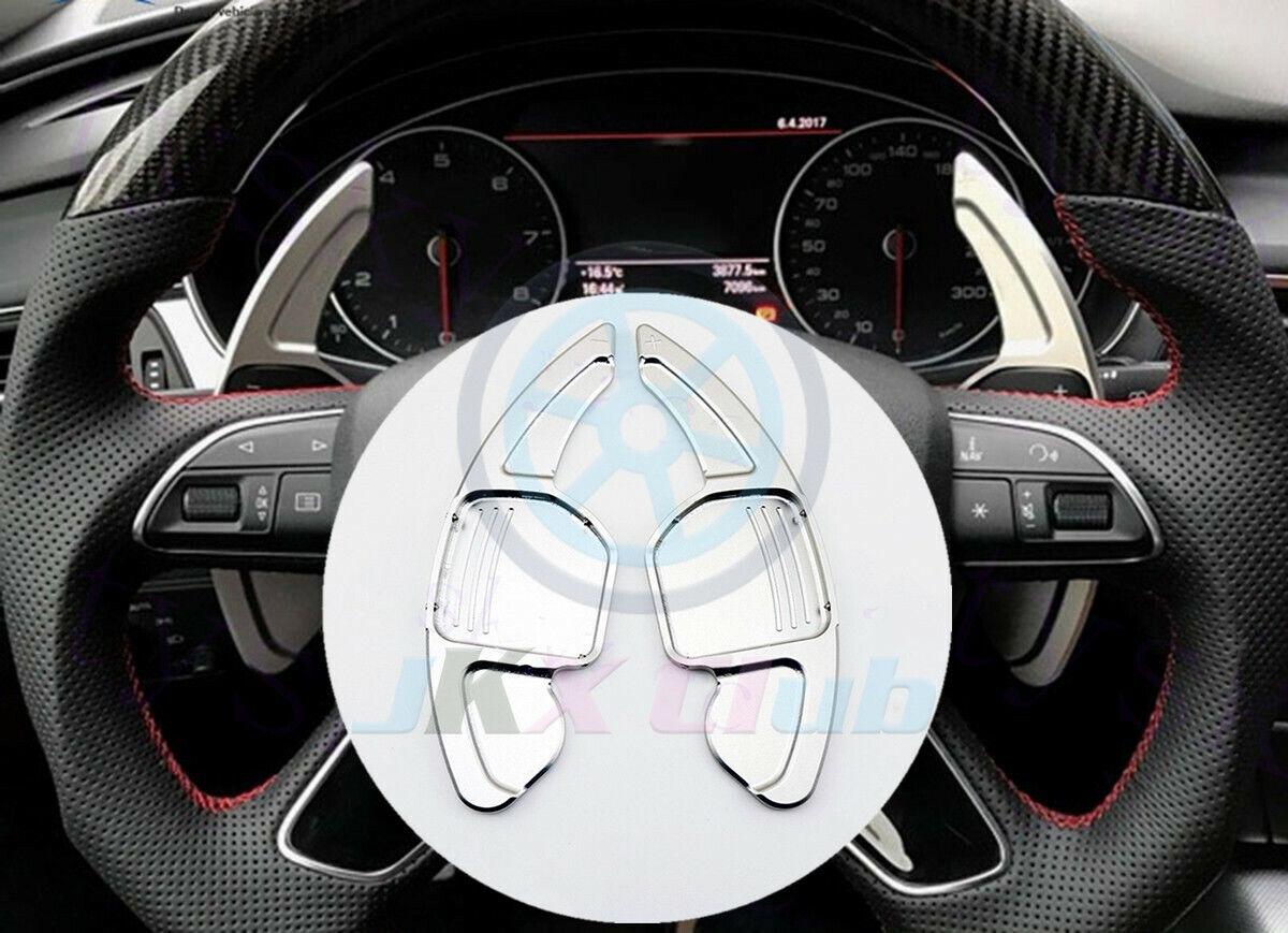 for Audi A3 S3 A4 S4 B8 A5 S5 A6 S6 A8 R8 Q5 Q7 TT Aluminum Steering Wheel Shift Paddles Car Extension Shifters